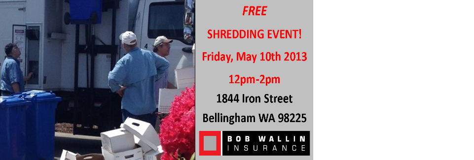 Shredding Party!! May 10th 12pm- 2pm